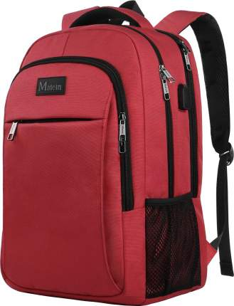 """Рюкзак для ноутбука Matein Mlassic, 15.6"""", красный"""