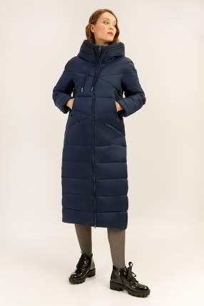 Пальто женское Finn Flare A19-12039 синее M