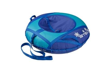 Санки надувные STELS 80 см тюбинг ткань с рисунком без камеры сн030, сине-голубой