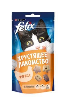 Лакомство для кошек Felix Хрустящее лакомство, курица, 60г