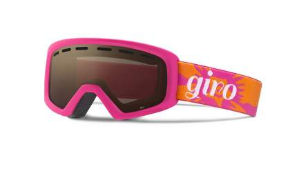 Горнолыжная маска Giro Rev 2016/2017 детская темно-розовая/коричневая M