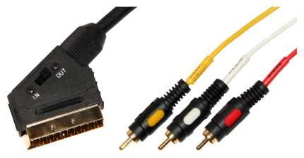 Кабель Premier Housewares 3RCA - SCART 1,5м Black (5-117)