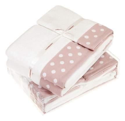 Полотенце для лица Luxberry белый, розовый