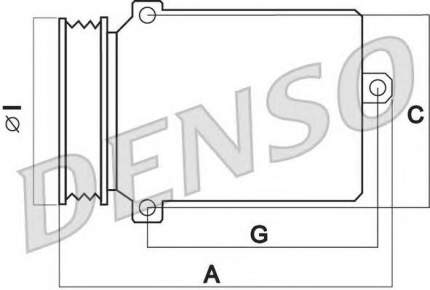 Компрессор кондиционера Denso DCP17115