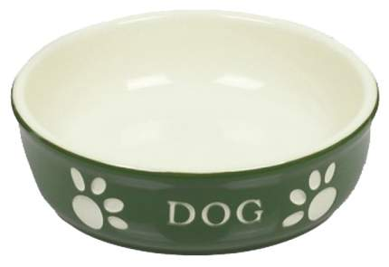 Одинарная миска для собак Nobby, керамика, зеленый, 0.13 л