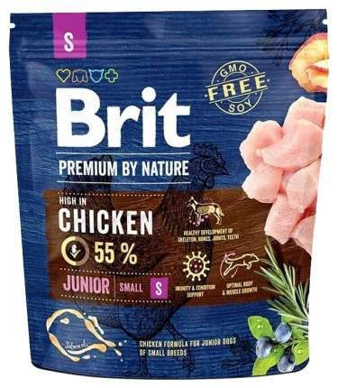 Сухой корм для щенков Brit Premium By Nature Junior S, для мелких пород, курица, 1кг
