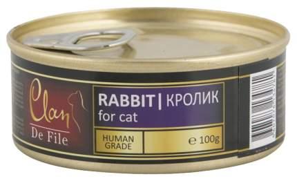 Консервы для кошек Clan De File, кролик, 100г