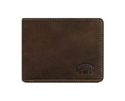 Бумажник Klondike John, коричневый, 11,5x9 см