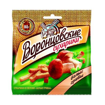 Сухарики Воронцовские ржаные белые грибы 80 г