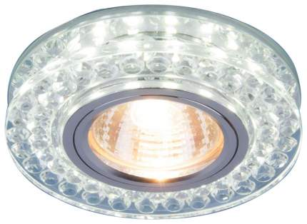 Встраиваемый светильник Elektrostandard 8381 MR16 CL/SL прозрачный/серебро