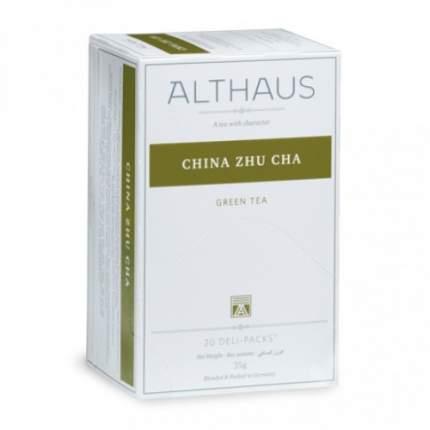 Чай зеленый Althaus China zhu cha 20 пакетиков