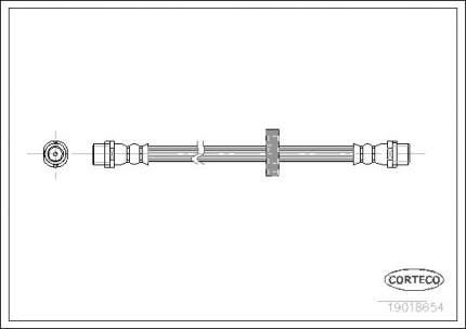 Шланг тормозной CORTECO 19018654