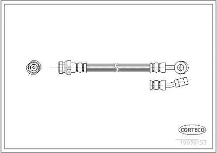 Шланг тормозной системы CORTECO 19036153