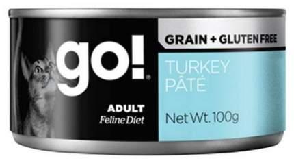 Консервы для кошек Go! Natural Holistic Grain+Gluten Free, индейка, 100г