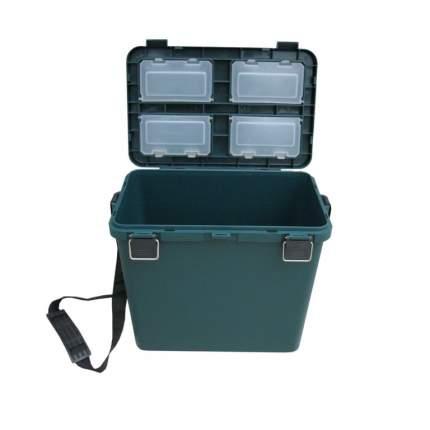 Рыболовный ящик Тонар Helios Ящик-М 19 л односекционный зеленый
