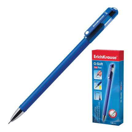 Ручка ErichKrause G-Soft гелевая синяя 2шт
