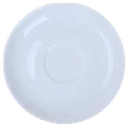 Блюдце Башкирский фарфор Белый
