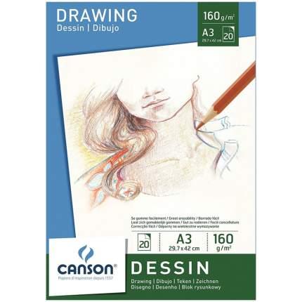 Альбом для графики  Canson Dessin, 29,7х42см, склейка 20 листов
