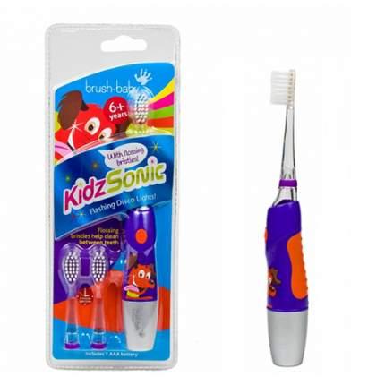 Детская электрическая зубная щетка Brush-Baby KidzSonic звуковая 6+ сиреневый