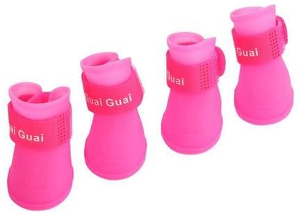 Обувь для собак Грызлик Ам размер S, 4 шт розовый