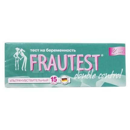 Тест полоска Frautest для определения беременности чувствительный 2 шт.