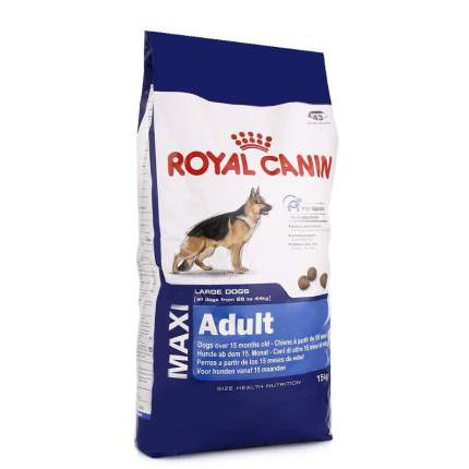 Сухой корм для собак ROYAL CANIN Adult Maxi, рис, птица, свинина, 15кг