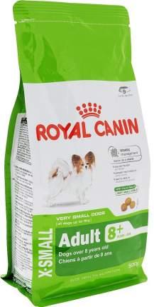 Сухой корм для собак ROYAL CANIN Adult 8+ X - Small, рис, птица, 0.5кг