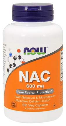 Добавка для здоровья NOW Nac 100 капс. натуральный