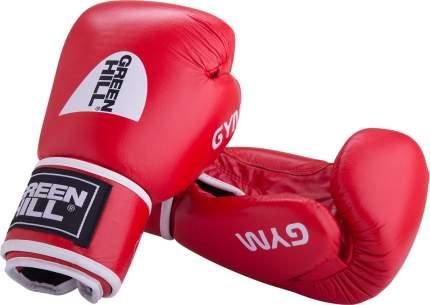 Боксерские перчатки Green Hill Gym красные 8 унций