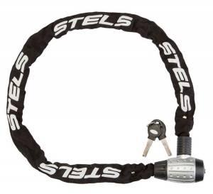 Цепь-замок Stels 85704 1200 мм d 6 мм черный/серебристый