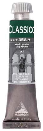 Масляная краска Maimeri Classico зеленый желчный 20 мл