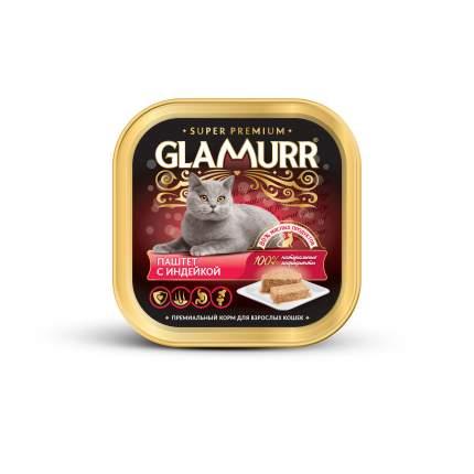 Консервы для кошек Glamurr Super Premium, индейка, 100г