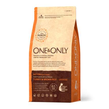 Сухой корм для котят ONE&ONLY Health Protection, индейка с рисом, 400г