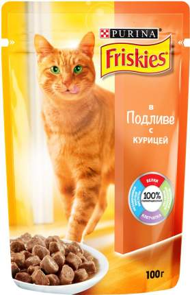 Влажный корм для кошек Friskies, с курицей в подливе, 20шт по 100г