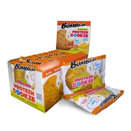 Печенье неглазированное Bombbar 40гр (коробка 12 шт.), Апельсин-имбирь