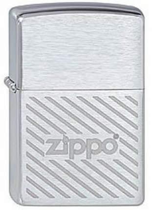 Бензиновая зажигалка Zippo 200 Zippo Stripes Brushed Chrome