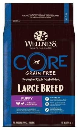 Сухой корм для щенков Wellness CORE Large Breed Puppy, для крупных пород, индейка, 10кг