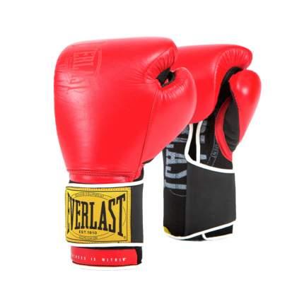 Боксерские перчатки тренировочные Everlast 1910 Classic красные 16 унций