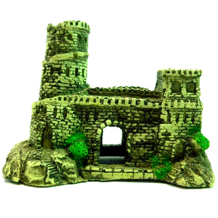 Грот для аквариума DEKSI  Крепость № 621 пластиковый, 14 х 6 х 12 см