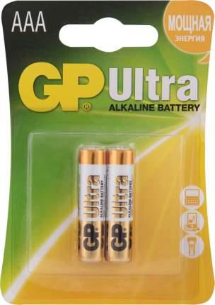 Батарейка GP Batteries Ultra Alkaline AAA 24AUP-2CR2 20/160 2 шт