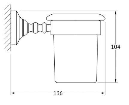 Держатель со стаканом 3SC Stilmar хром (STI 003)