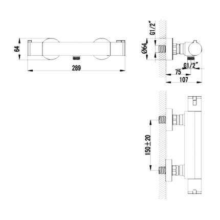 Смеситель для душа LEMARK Yeti LM7833C хром