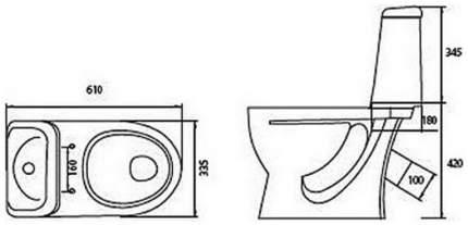 Унитаз-компакт Sanita Идеал S900801 белый