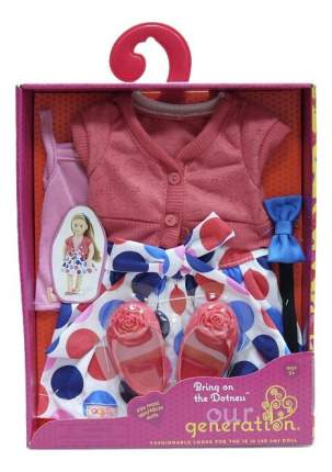 Жакет, майка, юбочка и балетки для кукол Our Generation