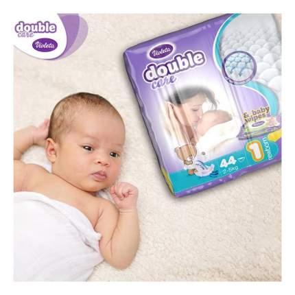 Подгузники Violeta Newborn (2-5 кг), 44 шт.