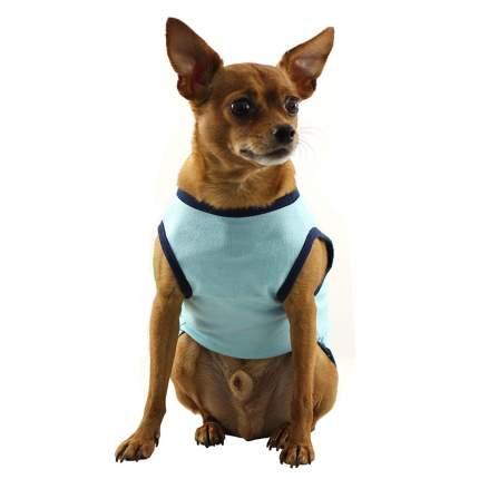 Футболка для собак Triol размер L унисекс, голубой, синий, зеленый, длина спины 33 см