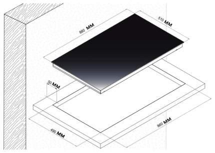 Встраиваемая варочная панель электрическая Korting HK 93551 B Black