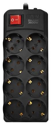 Сетевой фильтр Sven SV-015343, 8 розеток, 1,8 м, Black