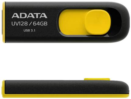 USB-флешка ADATA UV128 32GB Yellow/Black (AUV128-32G-RBY)