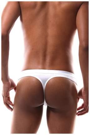 Мужские трусики-стринги с молнией, белые, XL